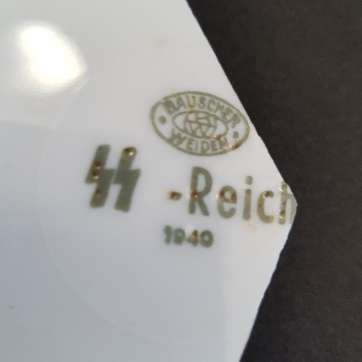 SS Reich porcelain diner plate