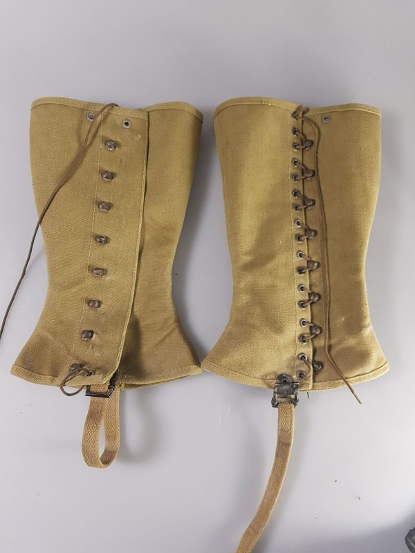 US WWII Gregory & Read Co. 3-R Canvas Gaiters